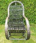 Fotel bujany wiklinowy 115x60x/110,siedzisko: 48x45, wys. opar.80