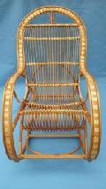 Fotel bujany wiklinowy 115 x 60, wys. 46/70/107, siedzisko szr 48,g³êb. 43, wys oparcia 82 cm.