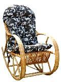 Fotel bujany wiklinowy z poduszk± 115 x 60, wys. 47/70/107, siedzisko szr 48,g³êb. 43, wys oparcia 82 cm.