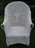 Fotel papieski, malowany. 70 x 70 wys. 39/67/105, siedzisko 50x48