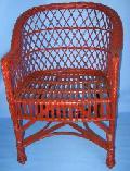 Fotel wiklinowy - super regan, malowany. 59x60x42/82, siedzisko szer 45 , g³êb 43