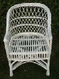 Fotel z wikliny wybielanej 57x57x41/61/80, siedz.43,g³êb.40